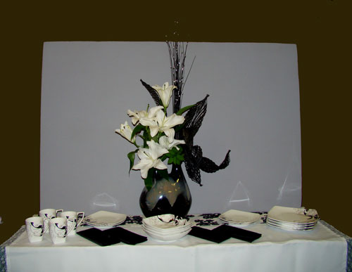 """A Functional Table """"A Black and White Buffet"""""""
