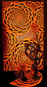 Abstract Kinetic Creative Op-Art Barb Sheets, Designer